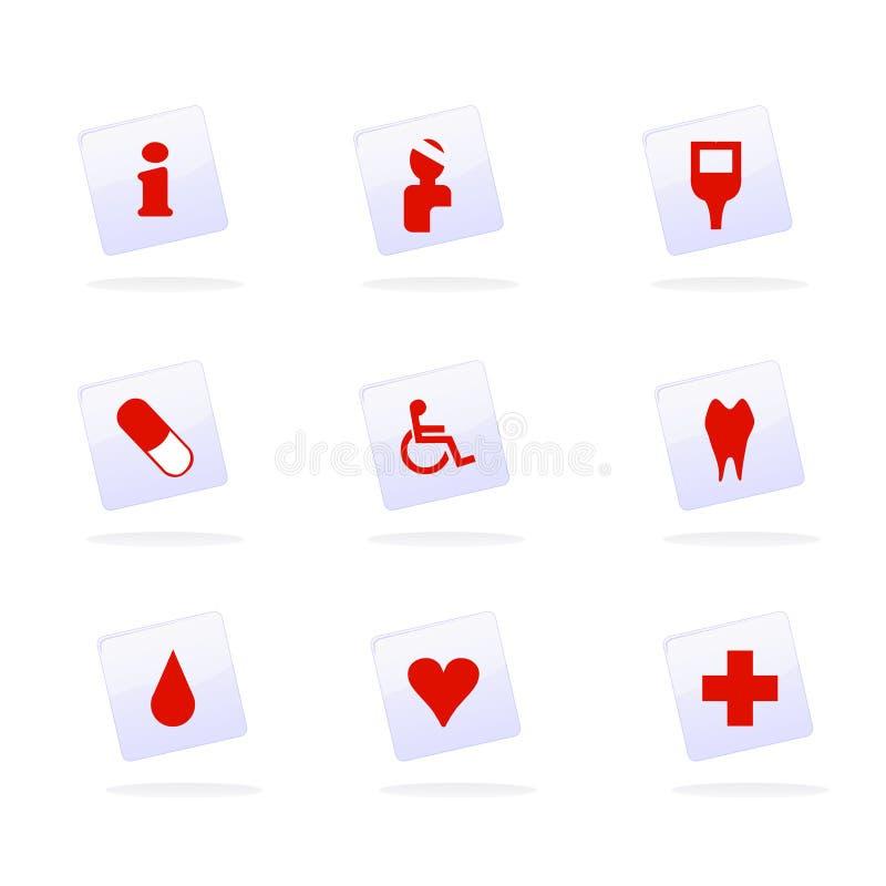 Medische pictogrammenvector royalty-vrije illustratie