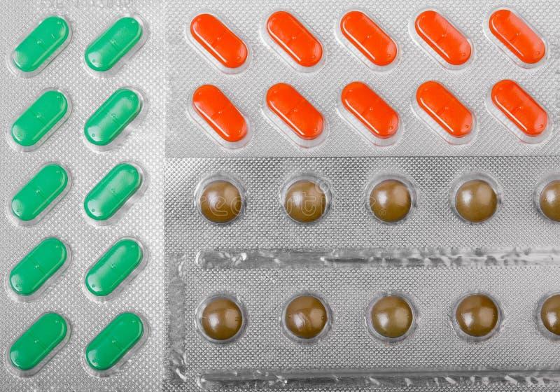 Medische pillen in blaren stock fotografie