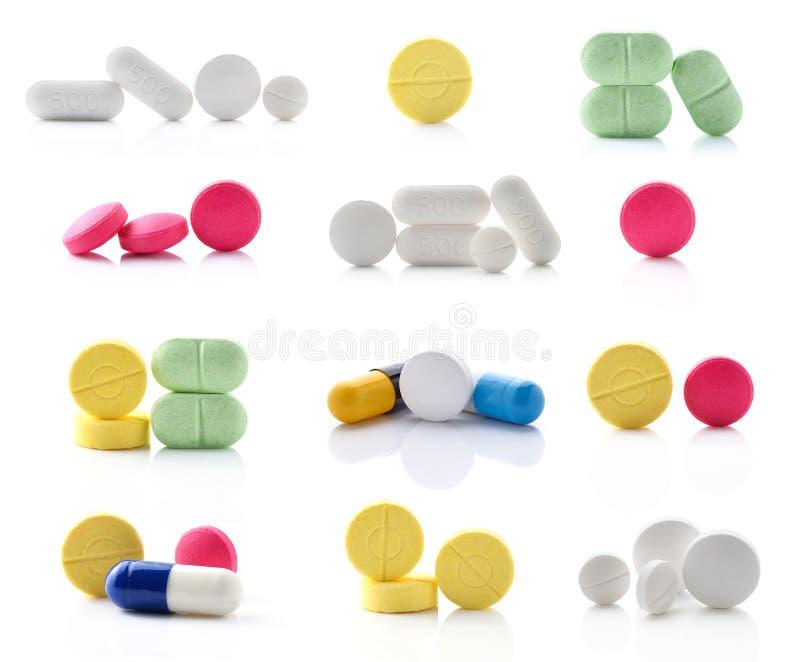 Medische pillentablet stock afbeeldingen