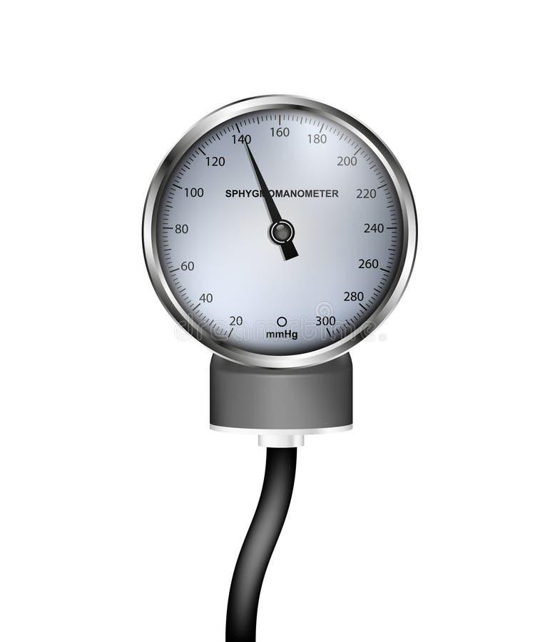 Medische sphygmomanometer vector illustratie