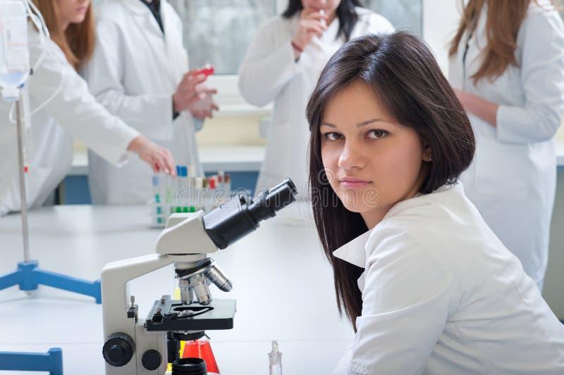 Medische studenten stock foto's