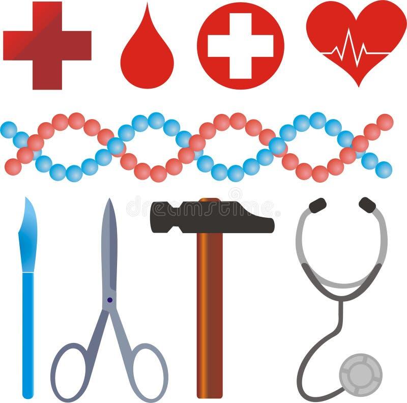 Medische symbolen royalty-vrije stock foto