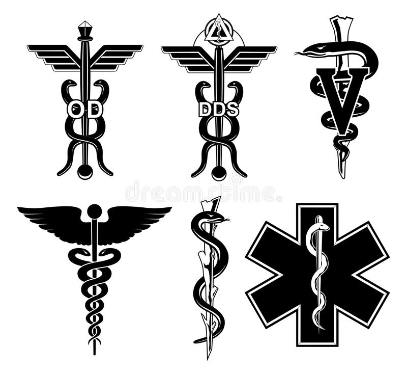 Medische symbool-Grafisch royalty-vrije illustratie