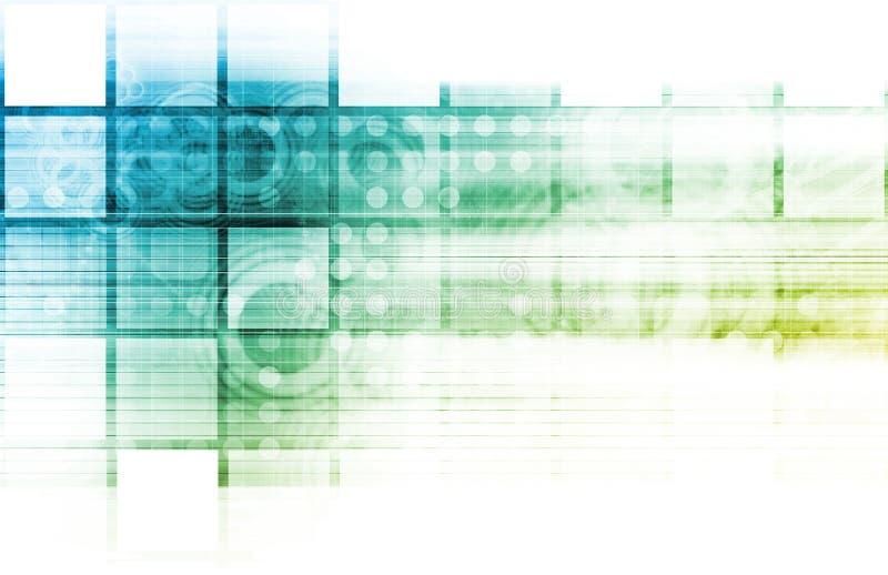 Medische Technologieachtergrond royalty-vrije illustratie