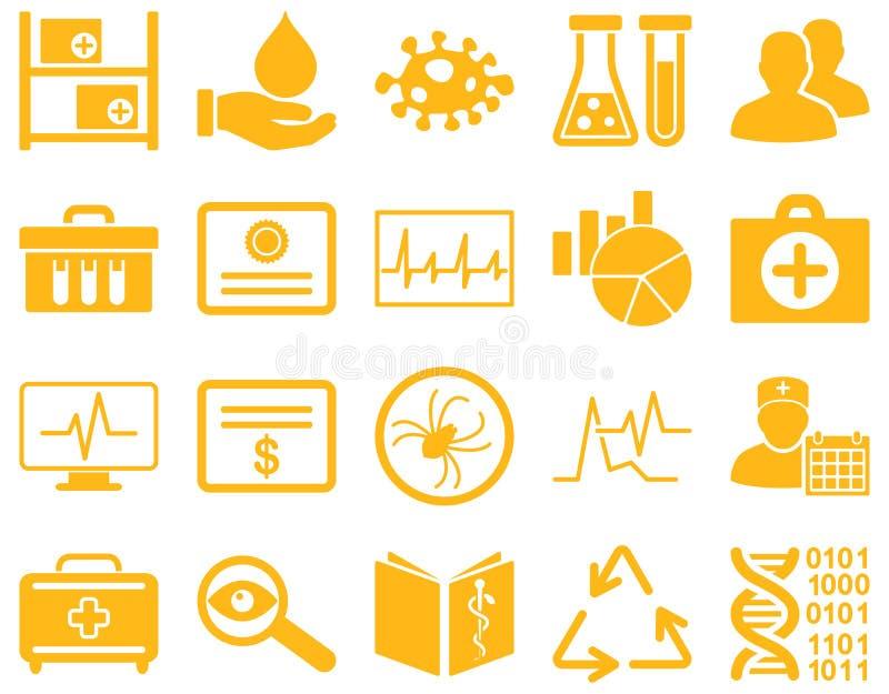 Medische tweekleurige pictogrammen vector illustratie
