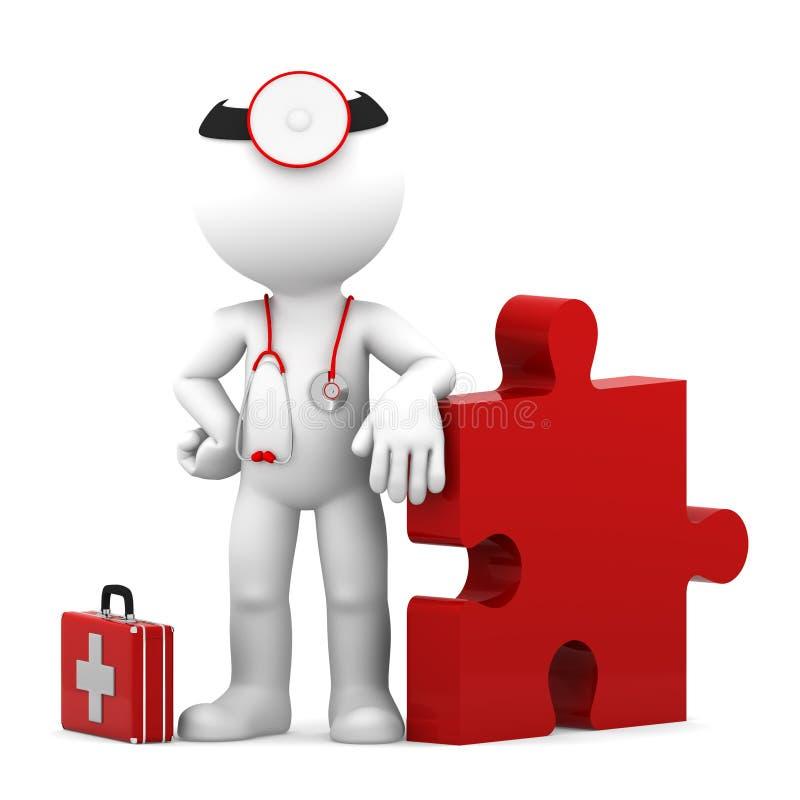 Medische uitdaging. Geïsoleerde royalty-vrije illustratie