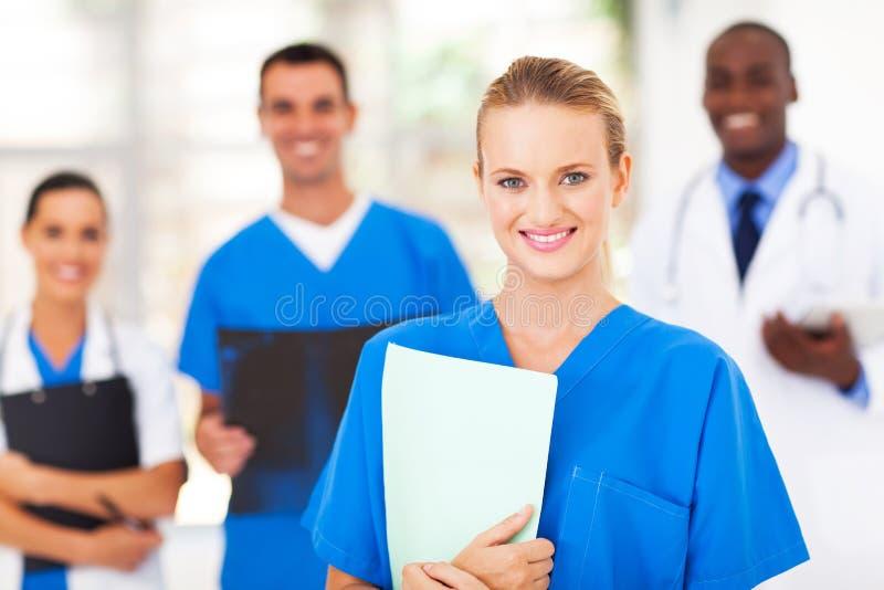 Medische verpleegsterscollega's stock fotografie