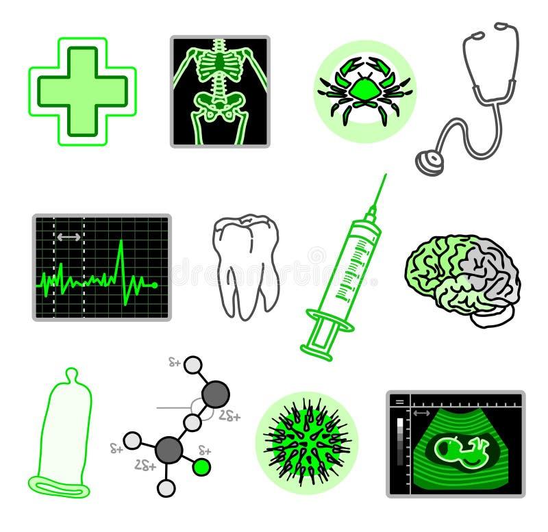 Medische voorwerpen royalty-vrije illustratie