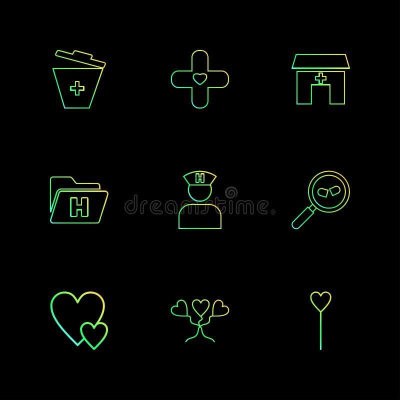 medische vuilnisbak, het ziekenhuis, gezondheid, omslag, verpleegster, onderzoek vector illustratie