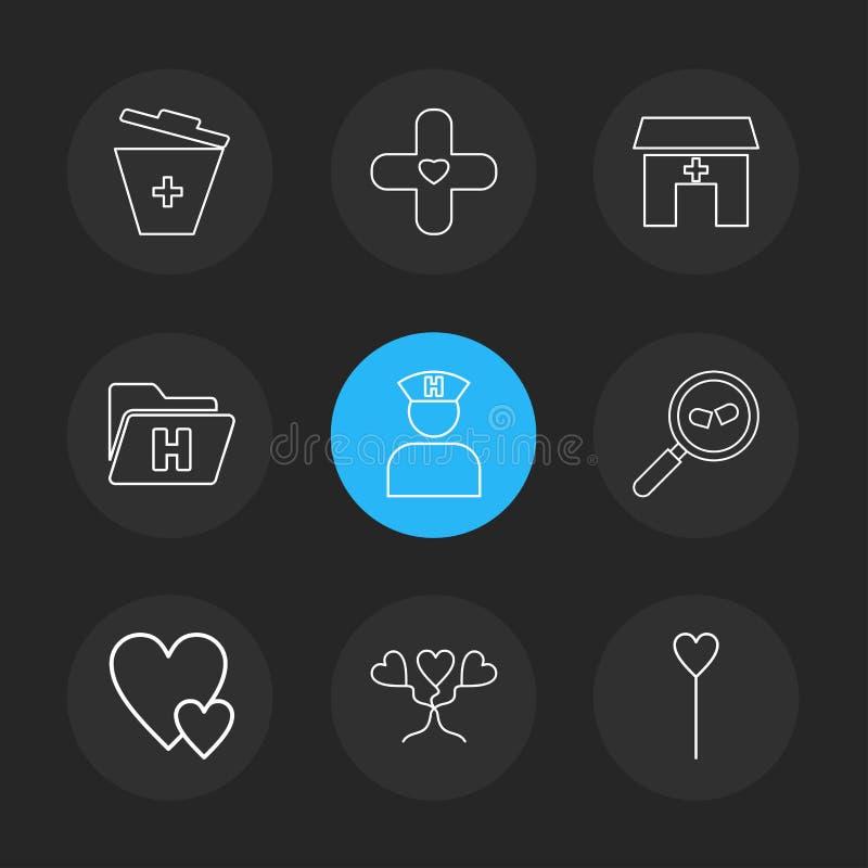 medische vuilnisbak, het ziekenhuis, gezondheid, omslag, verpleegster, onderzoek stock illustratie