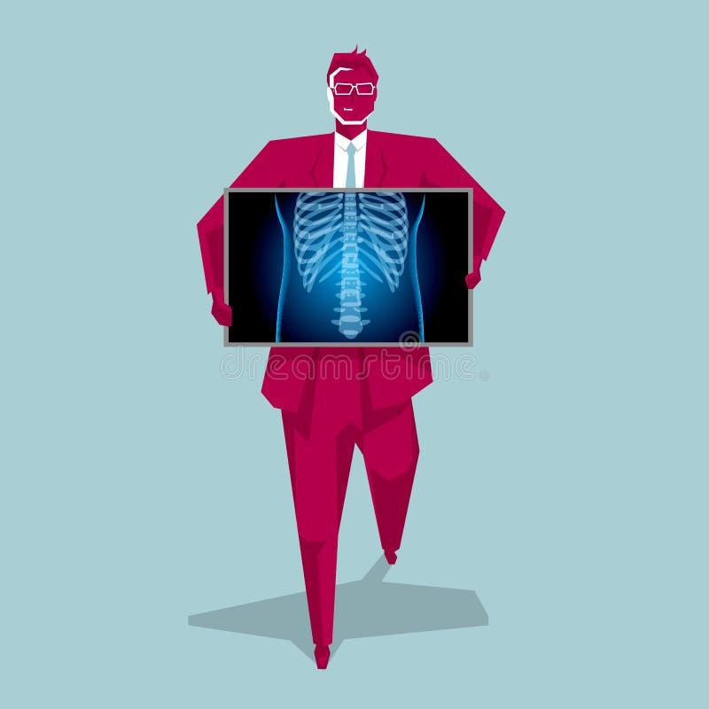Medische weergavetechnologie, borstziekte vector illustratie