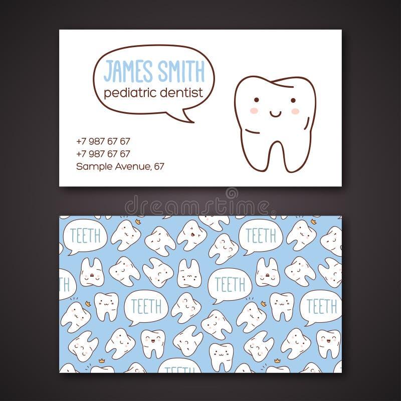 Medische zaken of visitekaartjes voor tandarts vector illustratie