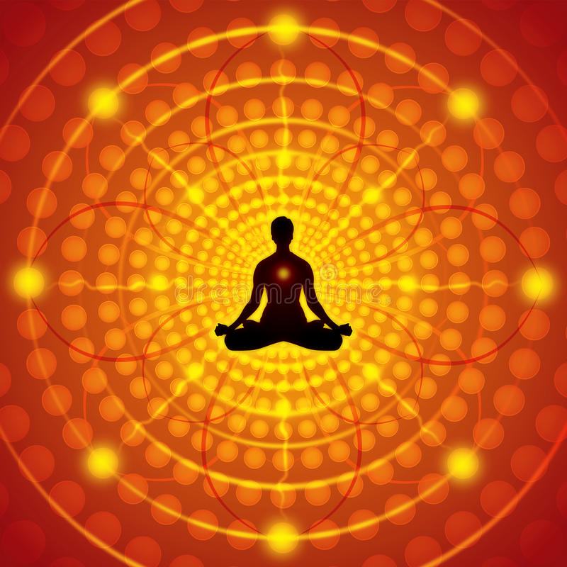 Meditação ilustração royalty free
