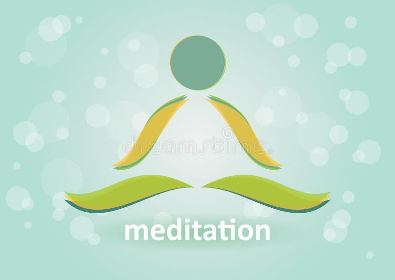 Meditação ilustração do vetor