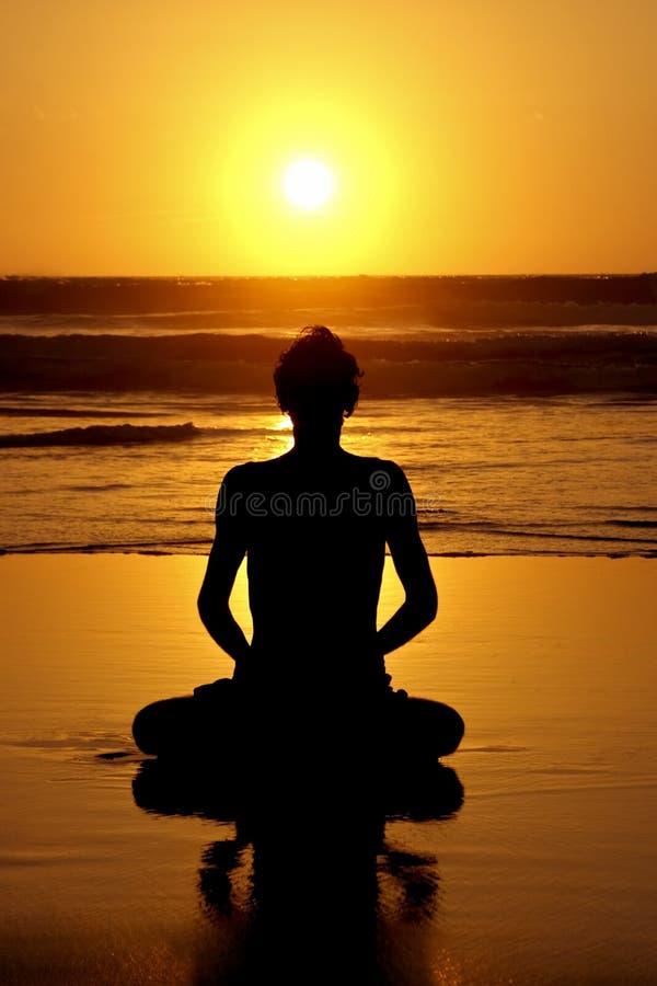 Meditação, amor e Contempla imagens de stock