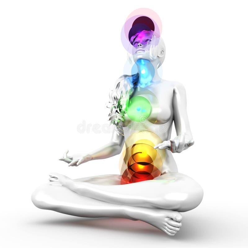 Meditação de Chakra ilustração stock