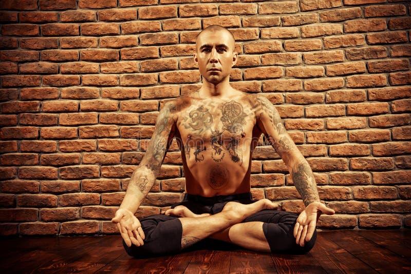 Meditação de Lotus fotos de stock