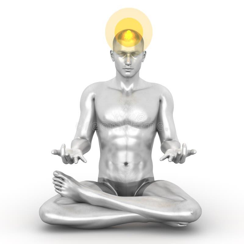 Meditação de Sahasrara ilustração royalty free