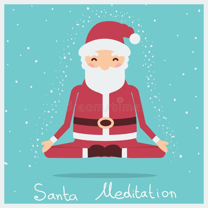 Meditação do Natal de Santa Ilustração do feriado do vetor ilustração do vetor