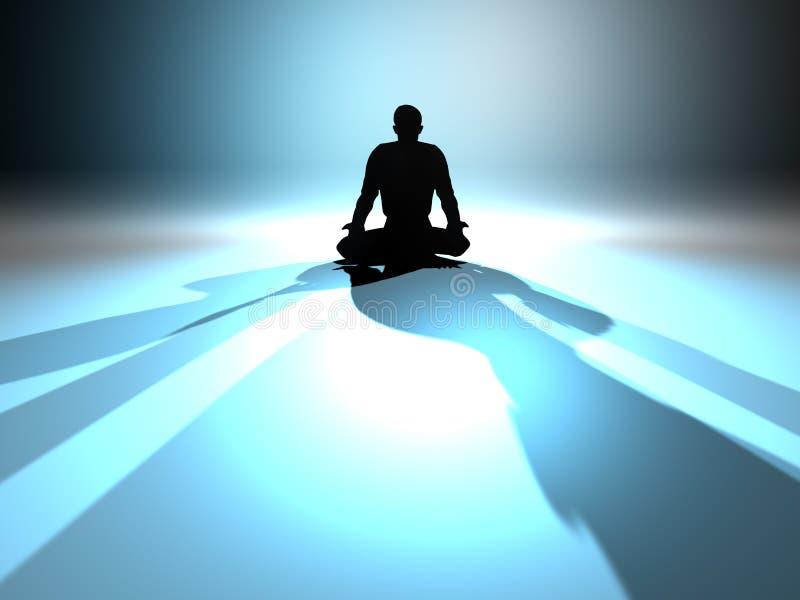 Meditação do zen ilustração royalty free