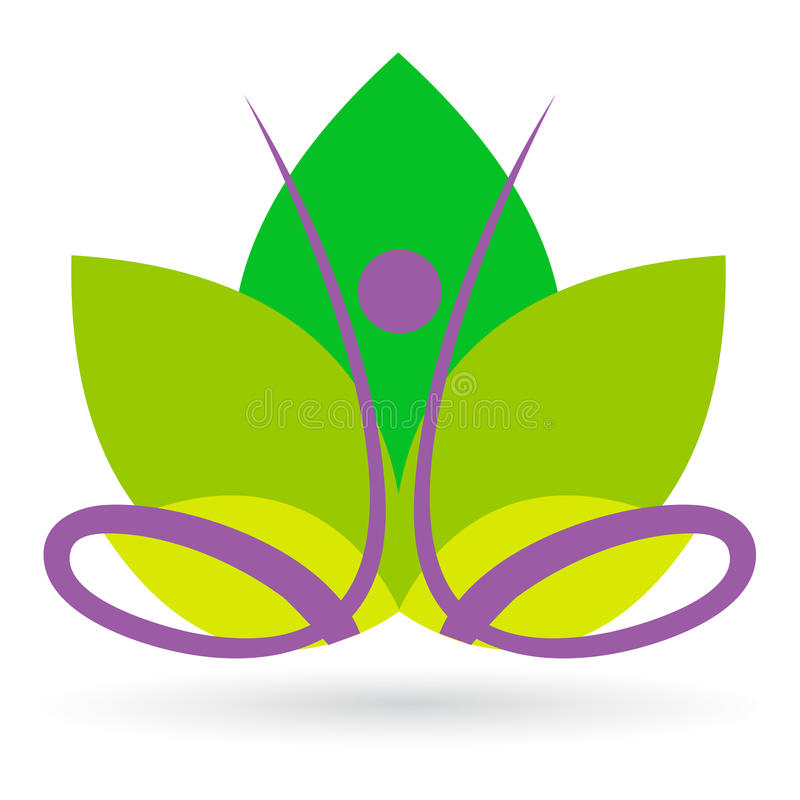Meditação dos lótus ilustração royalty free