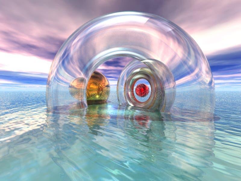 Meditação e paraíso de Reflection.Blue imagens de stock