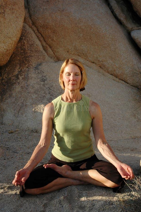 Meditação natural fotografia de stock royalty free