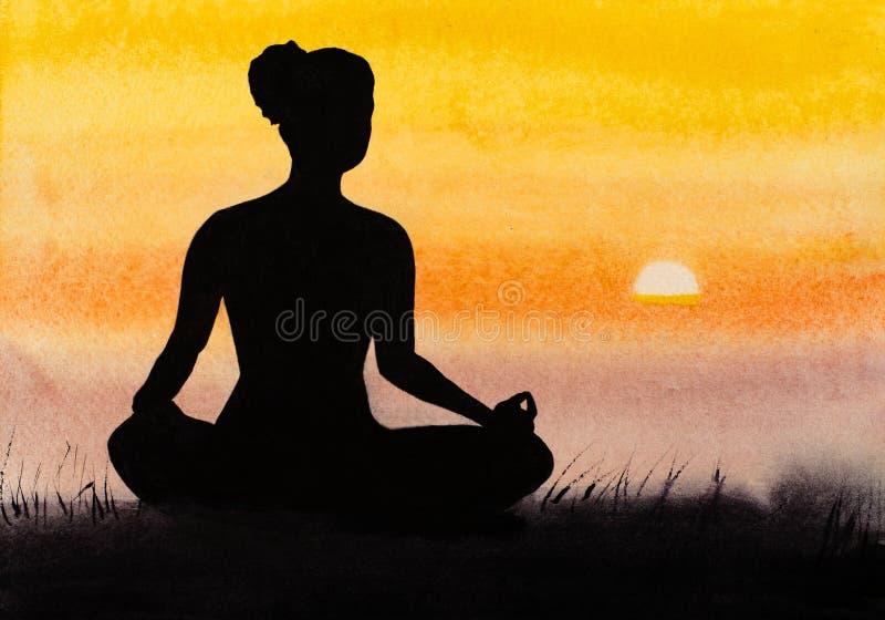 meditación ilustración del vector