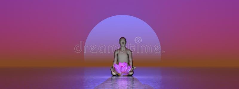 Meditación de Peacefull ilustración del vector