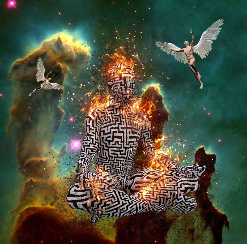meditaci?n stock de ilustración