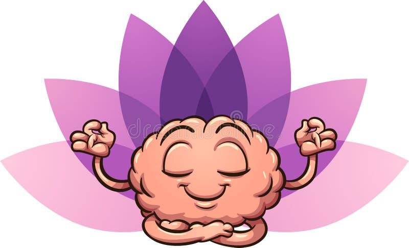 Meditando o cérebro ilustração stock