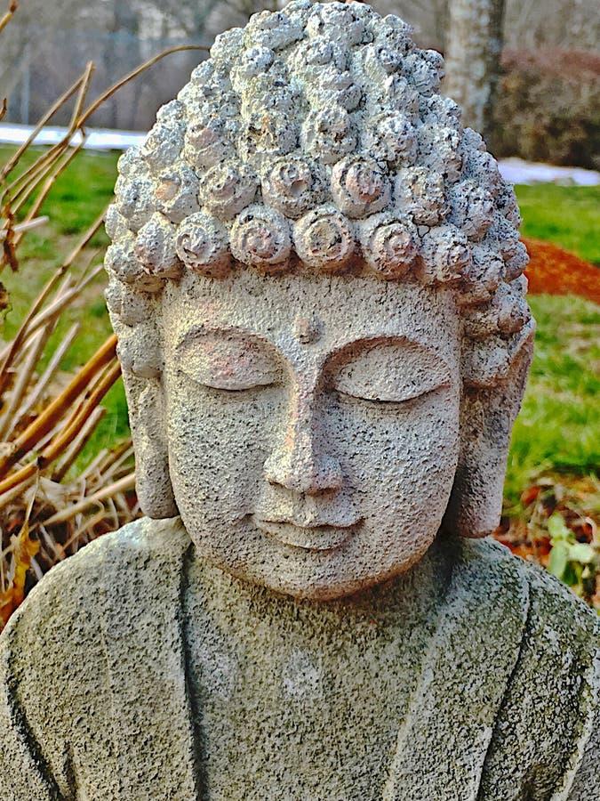Meditar da Buda & x28; Cabeça e Shoulders& x29; imagens de stock