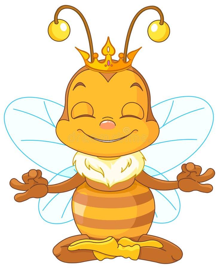 Meditar la abeja reina stock de ilustración