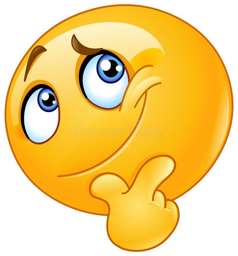 Meditar o emoticon ilustração stock