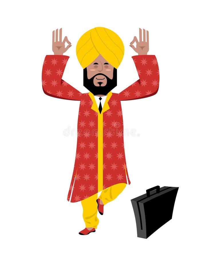 Meditare indù royalty illustrazione gratis