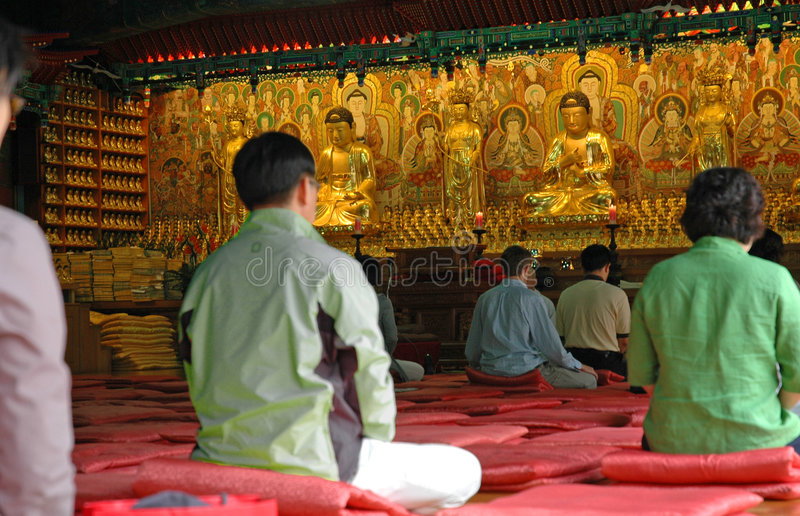 meditate висок стоковая фотография