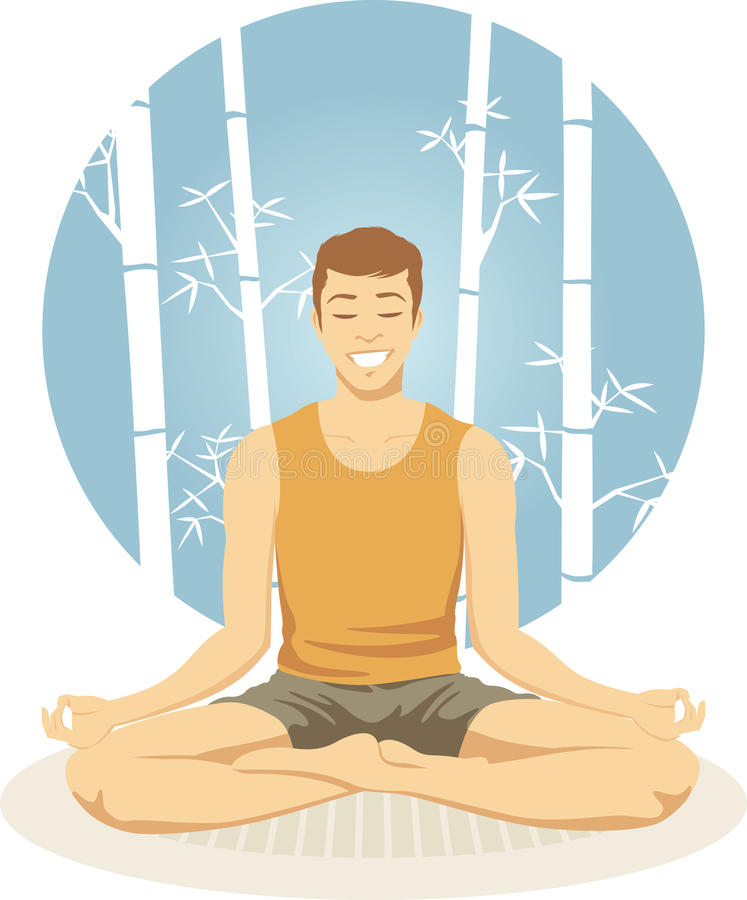 Download Meditate stock vector. Image of ages, healthy, adult - 10332348