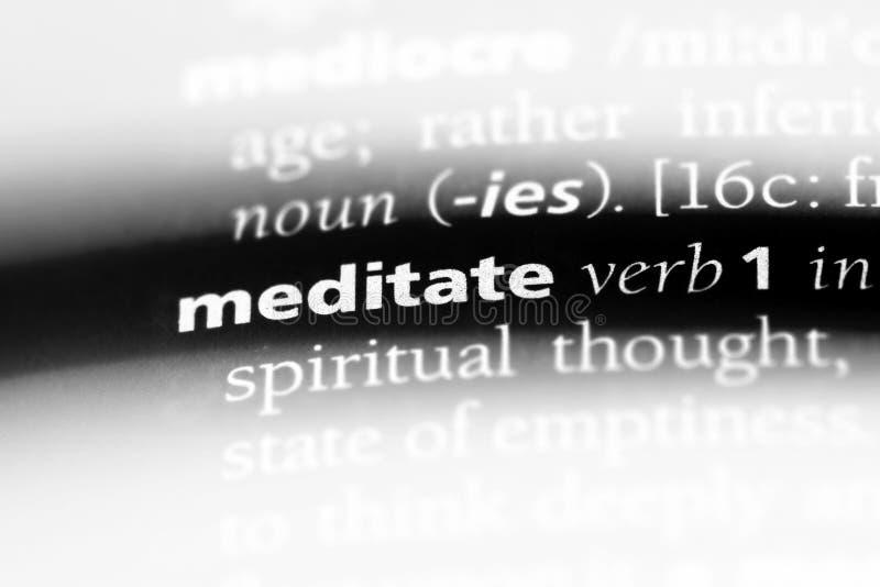 meditate στοκ εικόνα
