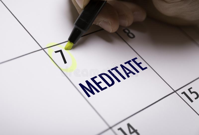 Meditate on a conceptual image. Sign on a conceptual image royalty free stock images