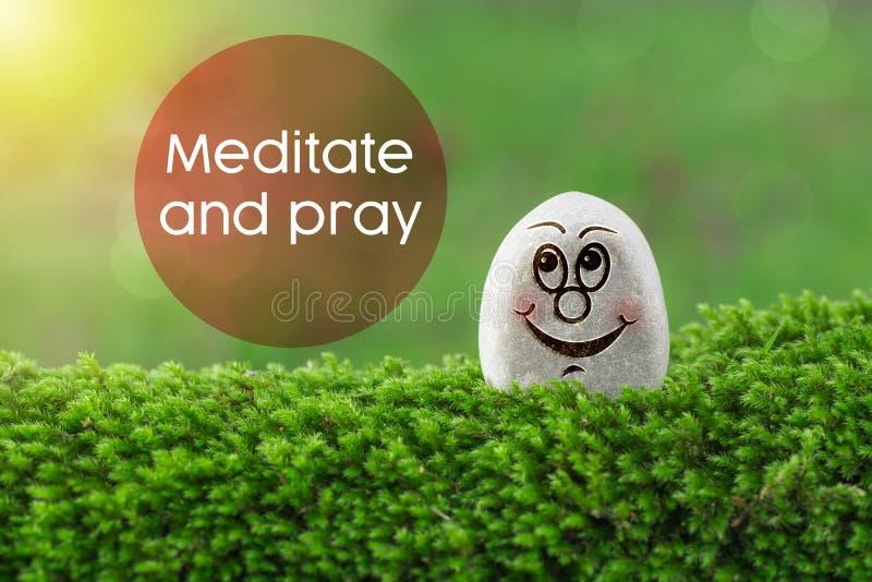 Meditate and pray royalty free stock photos