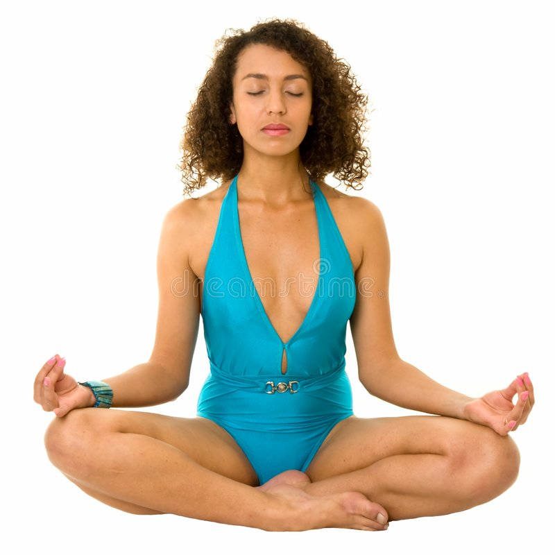 meditates женщина стоковое фото