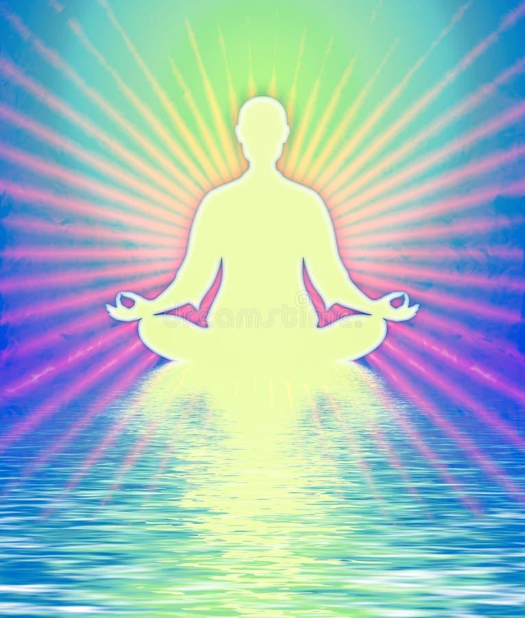 In meditatie stock illustratie