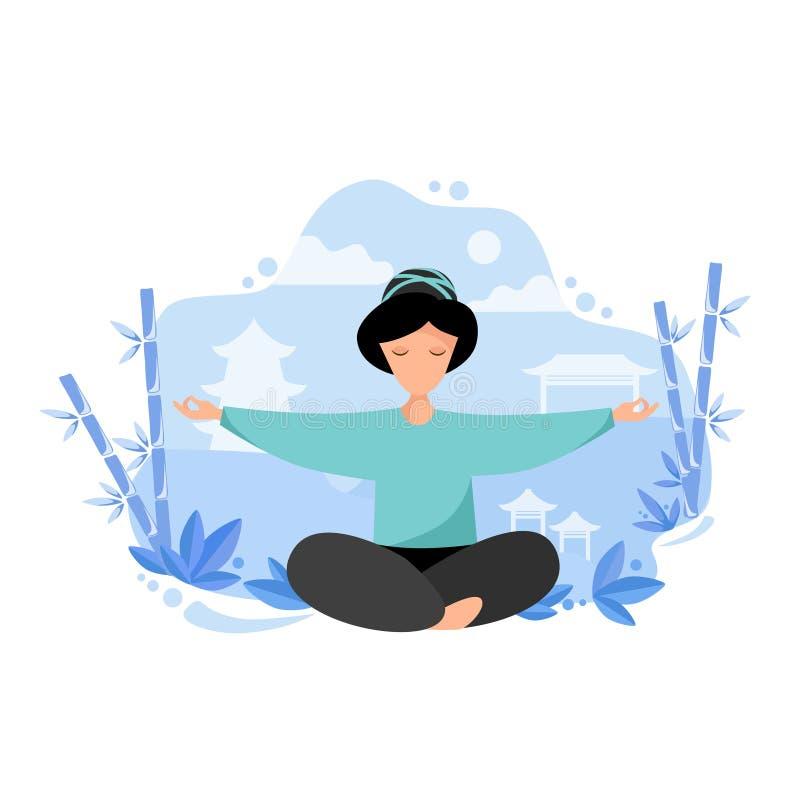 Meditatie in aard stock foto's