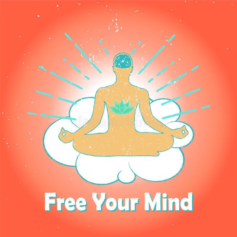 Download Meditatieembleem stock illustratie. Illustratie bestaande uit lotusbloem - 54076374
