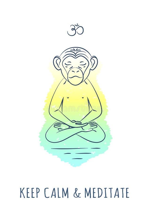 Meditatieve Dierenreeks 2 royalty-vrije stock afbeelding
