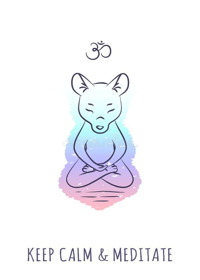 Meditatieve Dierenreeks 2 royalty-vrije illustratie