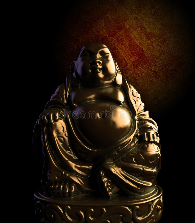 meditating άγαλμα του Βούδα χαλκ&o απεικόνιση αποθεμάτων