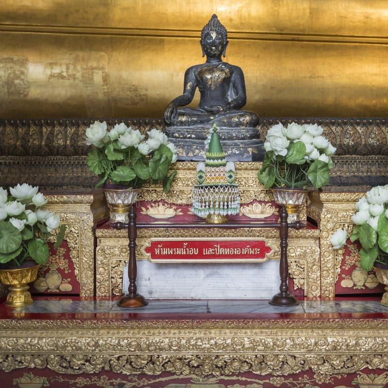 Meditating Βούδας στο ναό Wat Pho, Μπανγκόκ στοκ φωτογραφίες