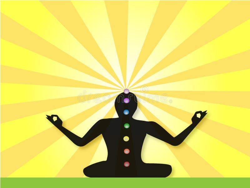 meditating γιόγκη απεικόνιση αποθεμάτων