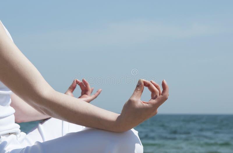 Meditating Royalty Free Stock Photography